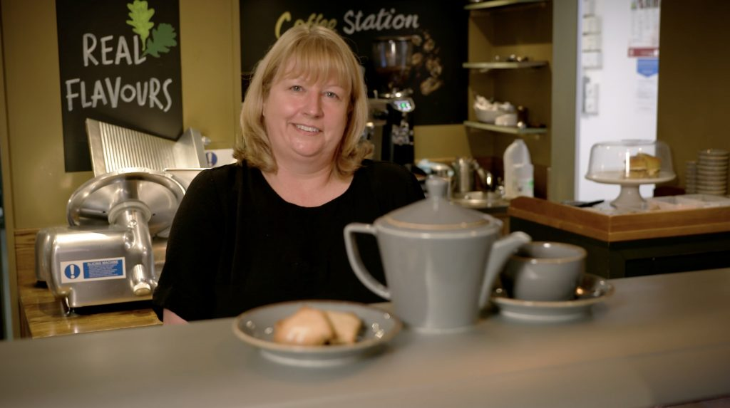 Deli owner from Everards Home of independent businesses film.