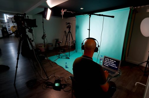 video production using teleprompter
